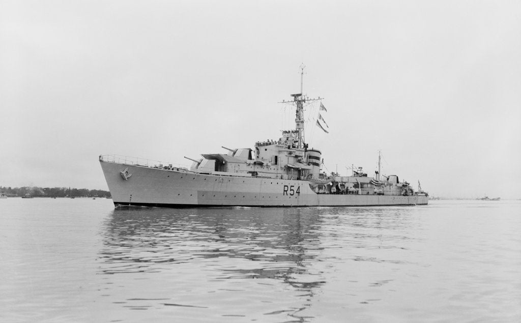 Detail of Photograph of HMS 'Zodiac' (1944) on 25th March 1945 by unknown
