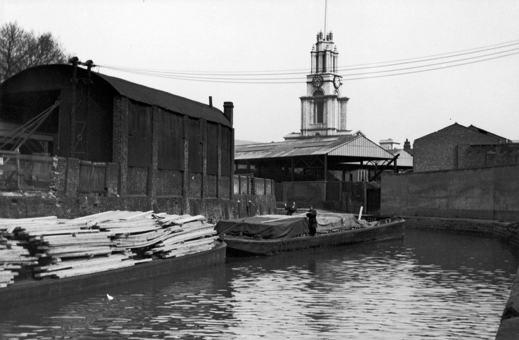 Detail of Limehouse Reach with the Gaselee tugs 'Tayra' (1926) and 'Wasp' (1939) by unknown