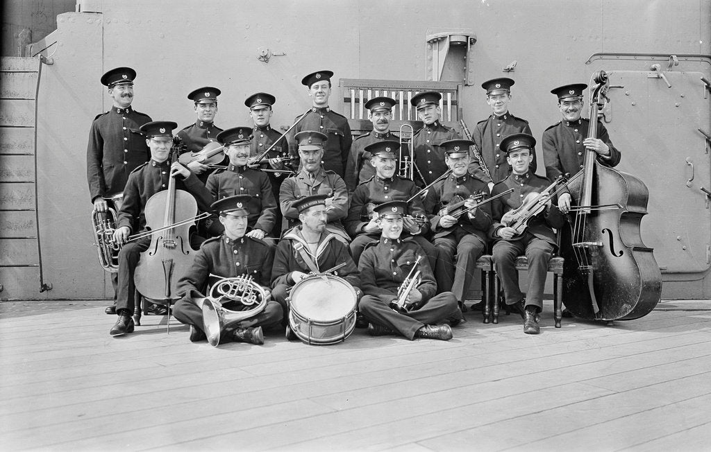 Detail of Crew on board HMS 'Queen Elizabeth' (1913) by unknown