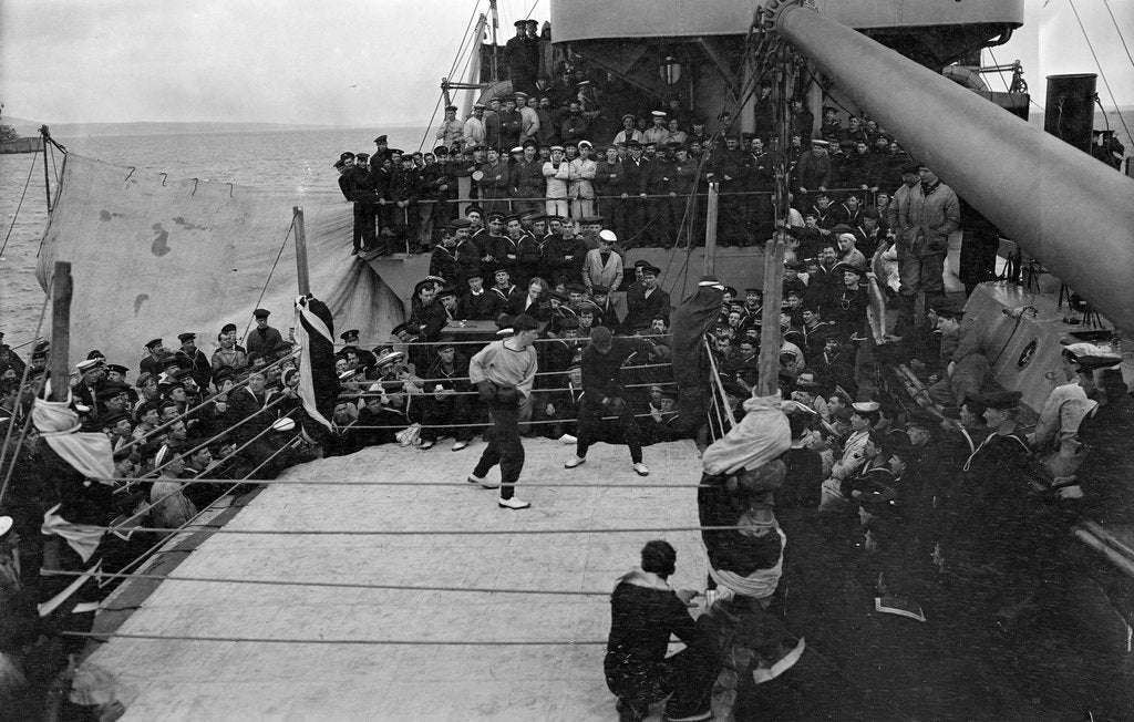 Boxing on 'Queen Elizabeth' (1913) by unknown