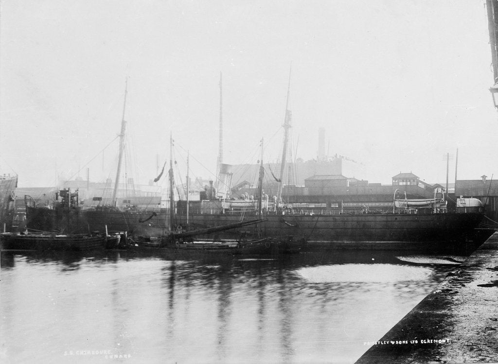 Detail of 'Cherbourg' (Br, 1875), alongside wharf in Liverpool Docks by unknown