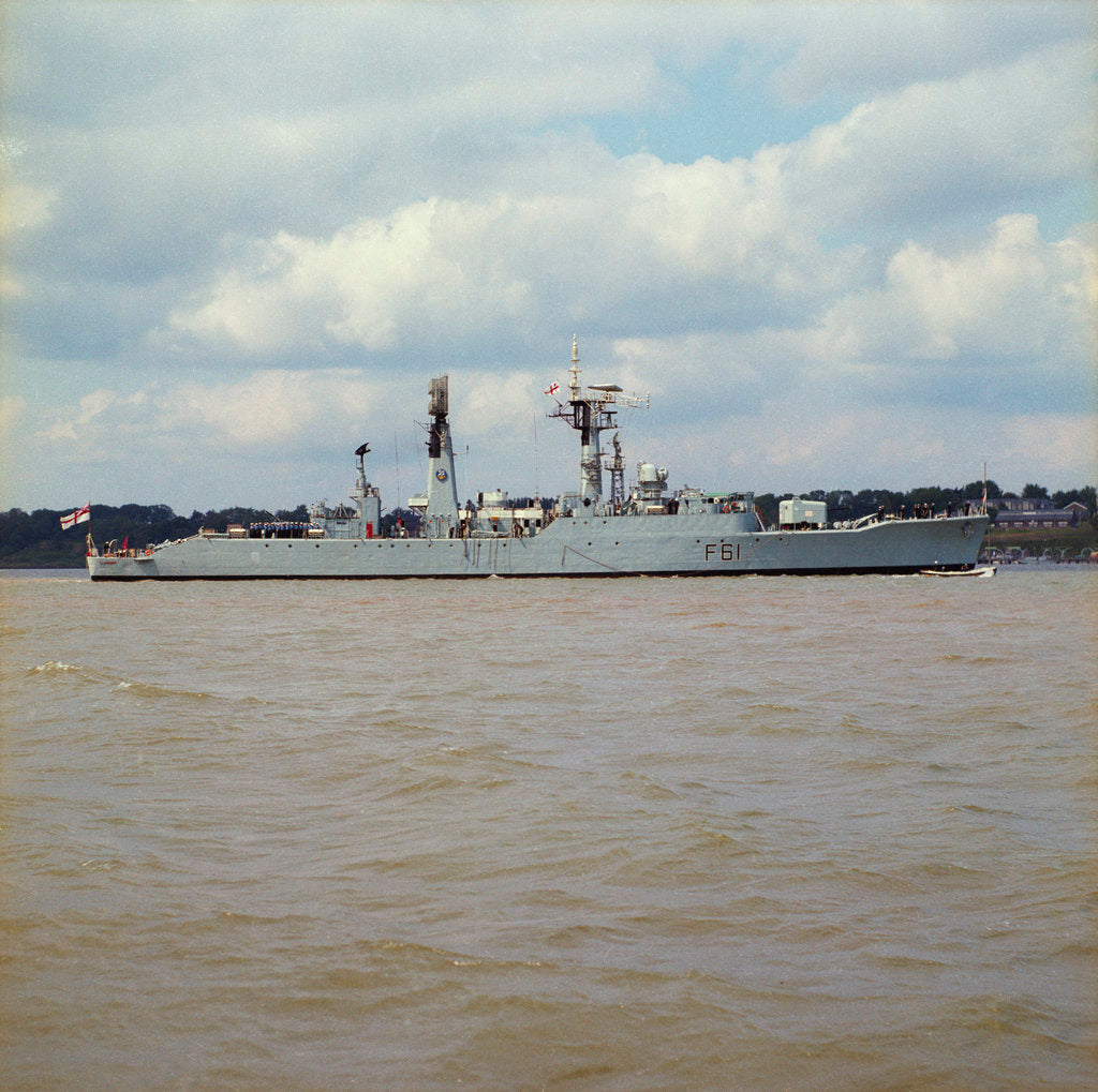 Detail of Frigate HMS 'Llandaff' (1955) in an unspecified location by unknown