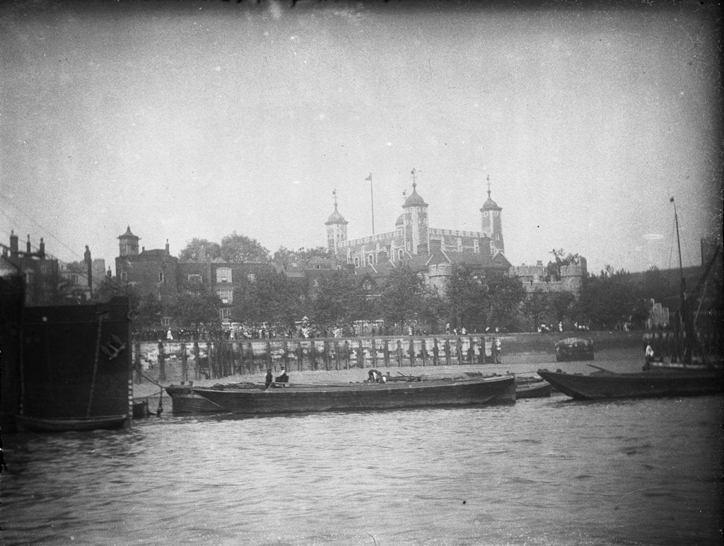 Detail of View from the river, looking north towards the Tower of London, 1907 by unknown