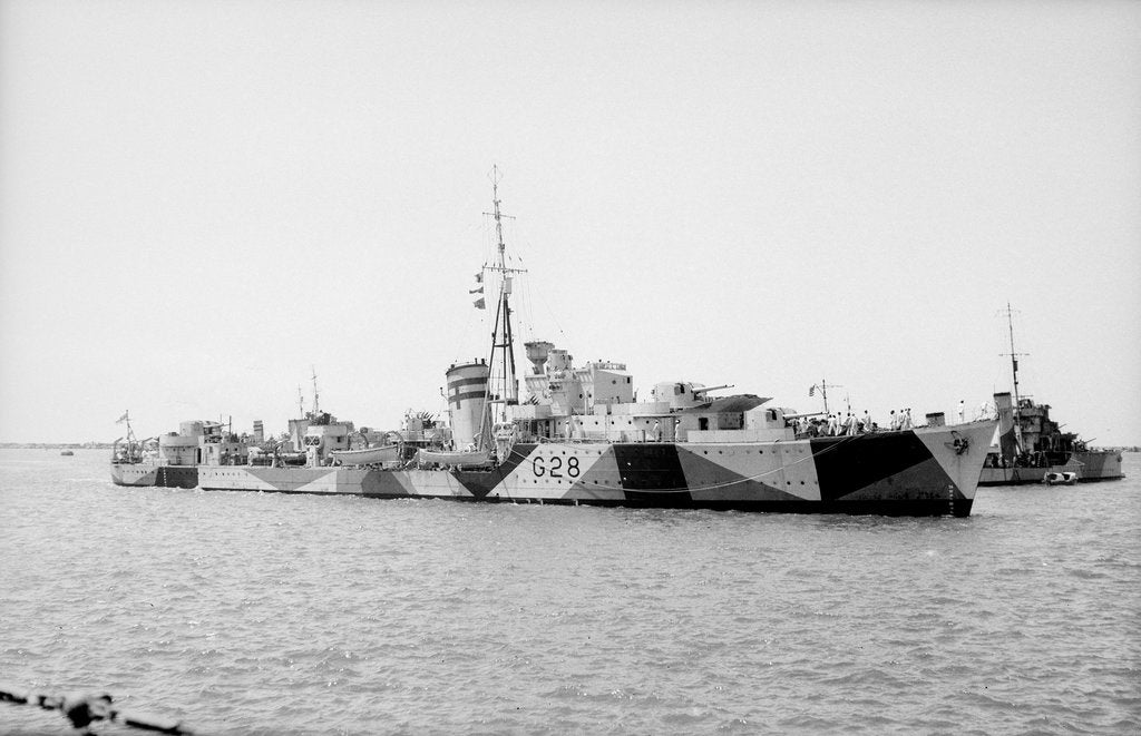 Detail of Photograph of 'Kandahar' (1939) on 1st May 1941, under way in Alexandria harbour by unknown