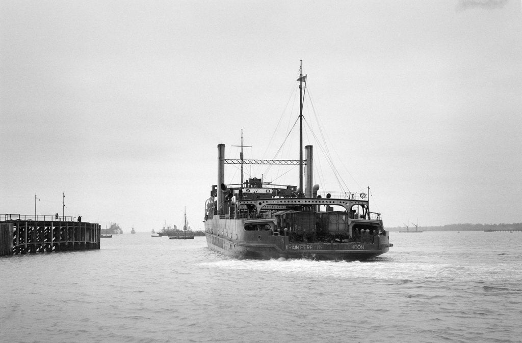Detail of Port stern view of Train Ferry No. 1 by unknown