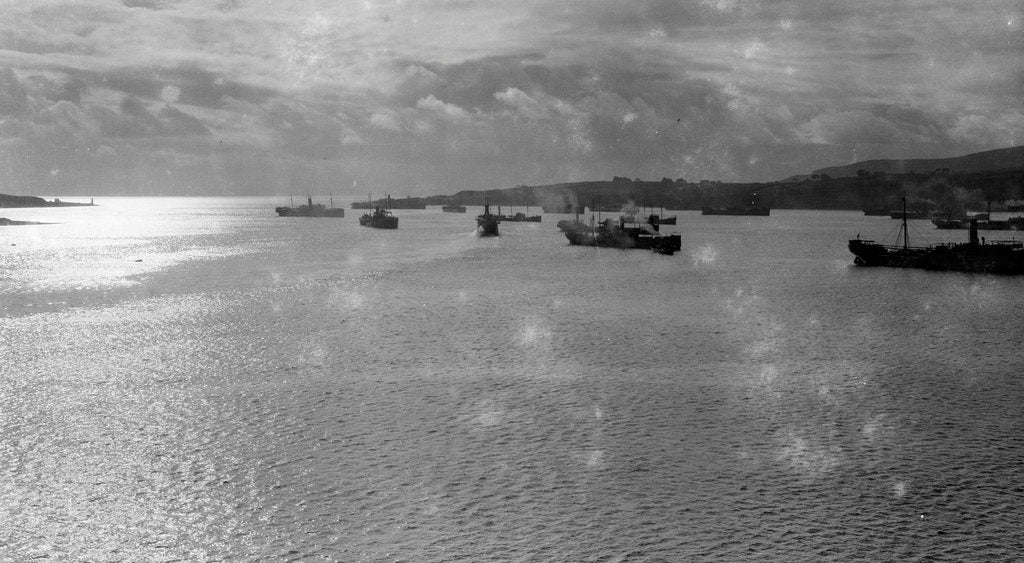 Detail of Convoy of ships in Lamlash Bay, Isle of Arran by Anonymous