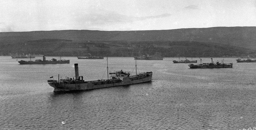Detail of Convoy of ships in Lamlash Bay, Isle of Arran, Scotland by Anonymous