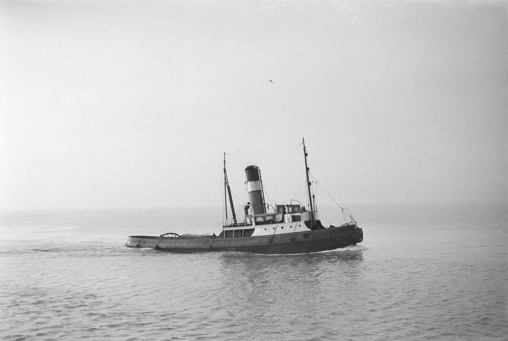 Detail of A photograph of 'Brockenhurst' (1913) - under way off Swansea, bound in by unknown