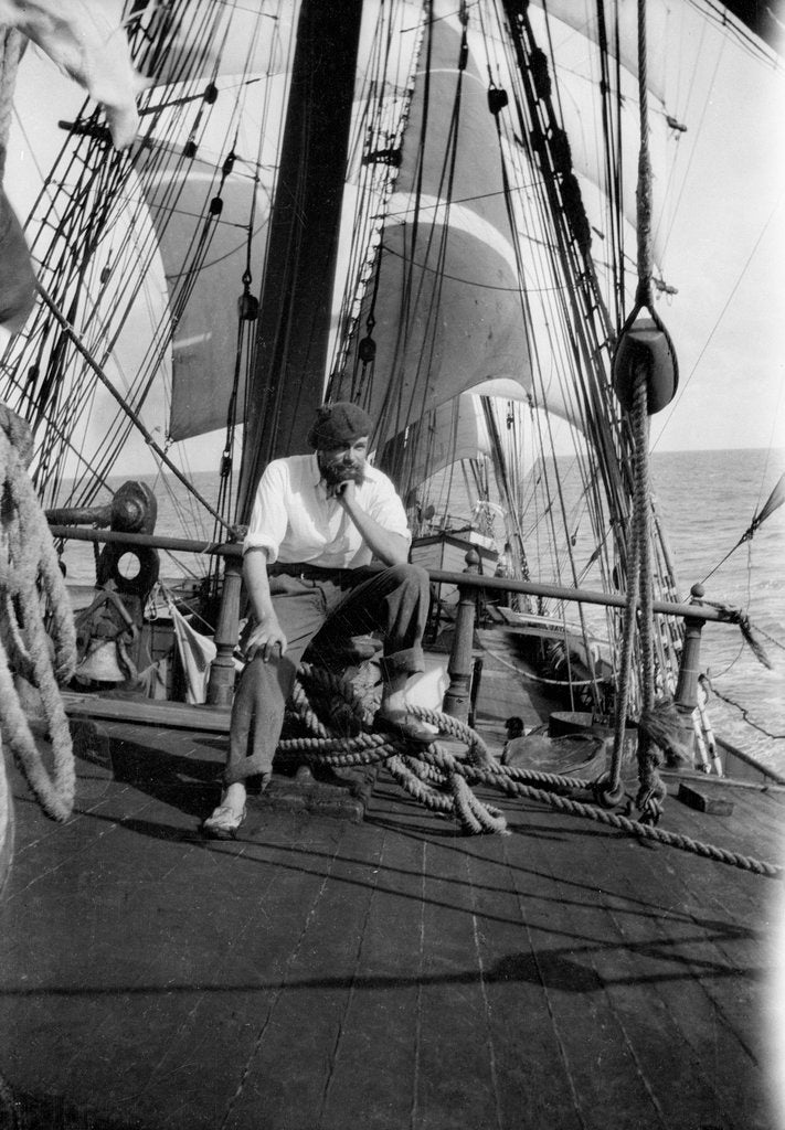 Alan Villiers aboard the 'Grace Harwar' by Alan Villiers