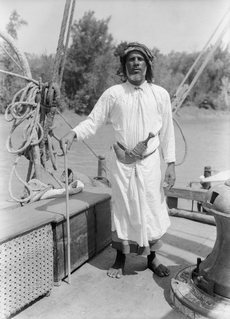 Mubarak, native of Sur in eastern Oman, piloted the 'Triumph of Righteousness' on the voyage to the Rufiji by Alan Villiers