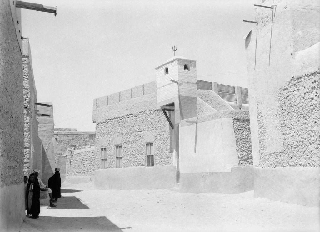 Detail of Street and mosque, Kuwait by Alan Villiers