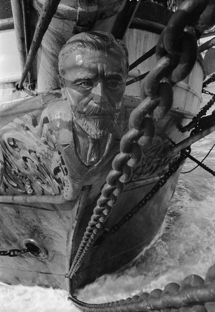 Detail of Figurehead of the 'Joseph Conrad' by Alan Villiers