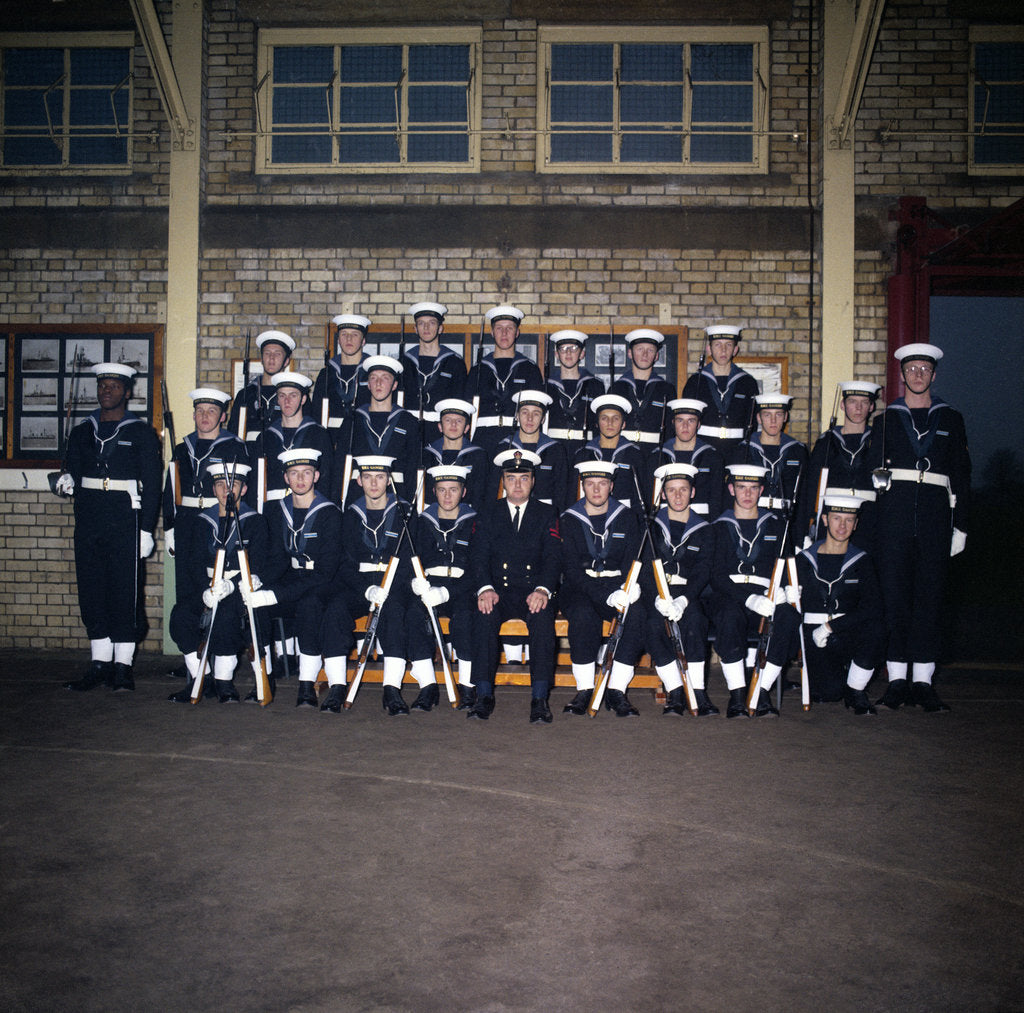 Detail of HMS Ganges formal group photograph, 7th December 1975 by Reginald Arthur Fisk