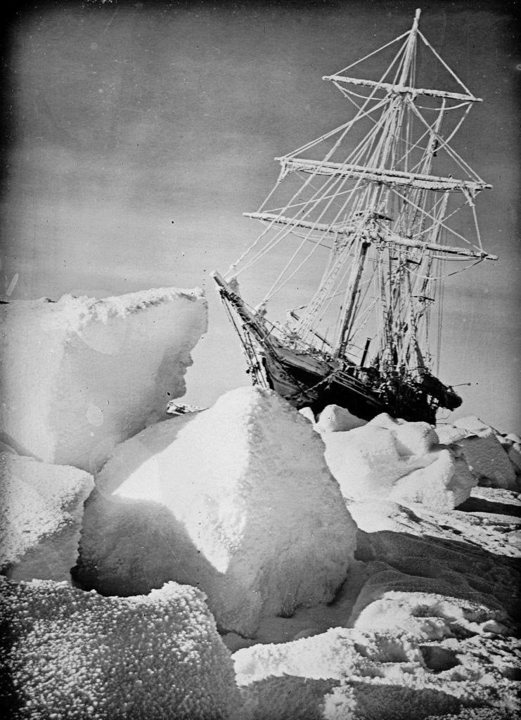 Detail of 'Endurance' frozen in and forced out of the ice, during Ernest Shackleton's Imperial Trans-Antarctic Expedition of 1914-1917 by unknown