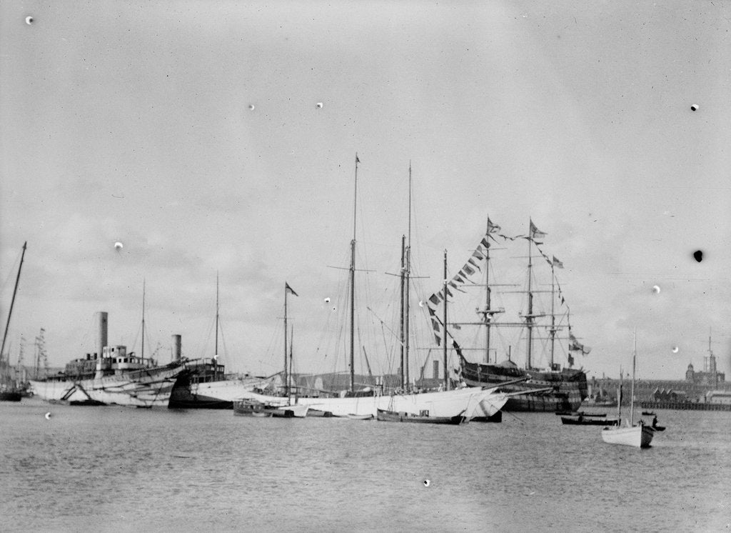 Detail of View of Portsmouth Harbour, 1911 by unknown