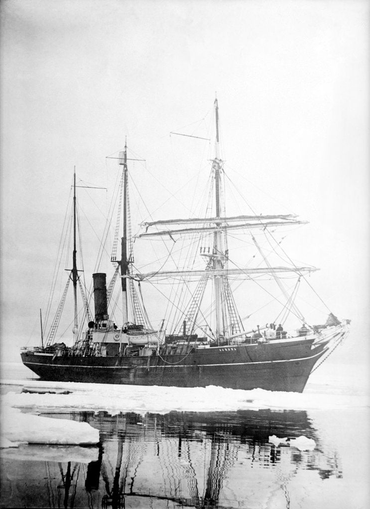 Detail of 'Aurora' (Br, 1876) Sir Ernest Shackleton's exploration vessel amongst the ice by unknown