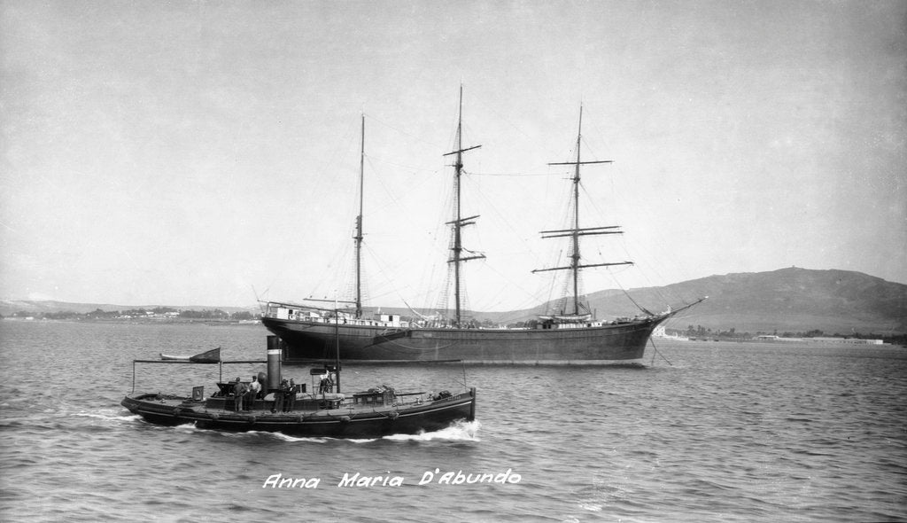 Detail of The 'Anna Maria D'Abundo' (It, 1903) at anchor by unknown