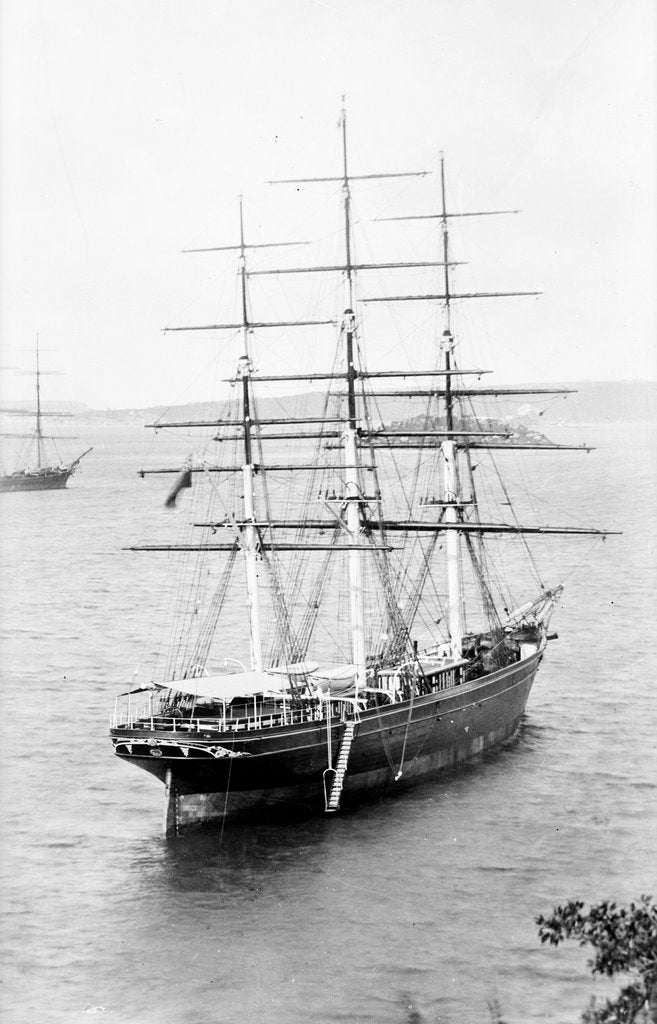 Detail of 'Cutty Sark' (1869) waiting in Sydney Harbour for the new season's wool by unknown