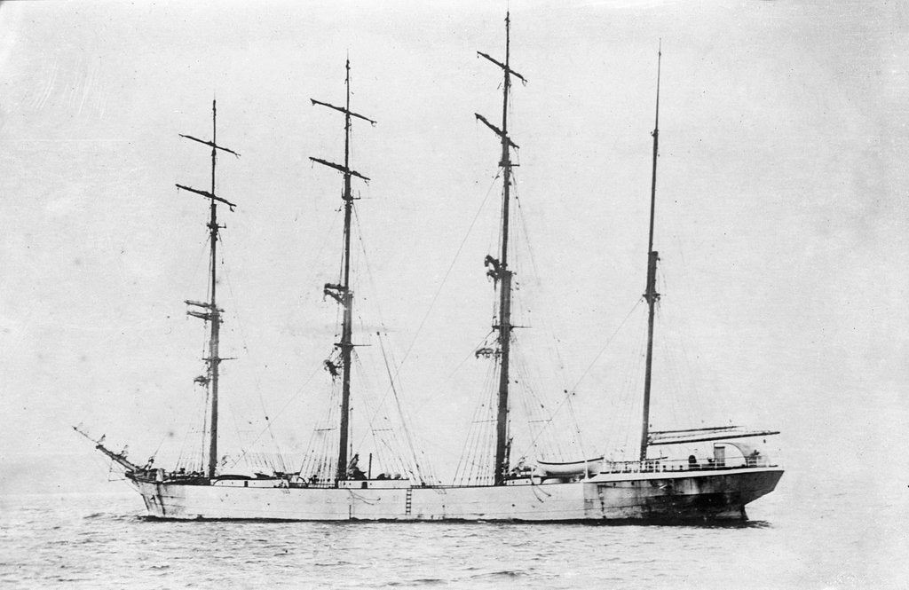 Detail of 'Dundee' (Br, 1882) at anchor by unknown
