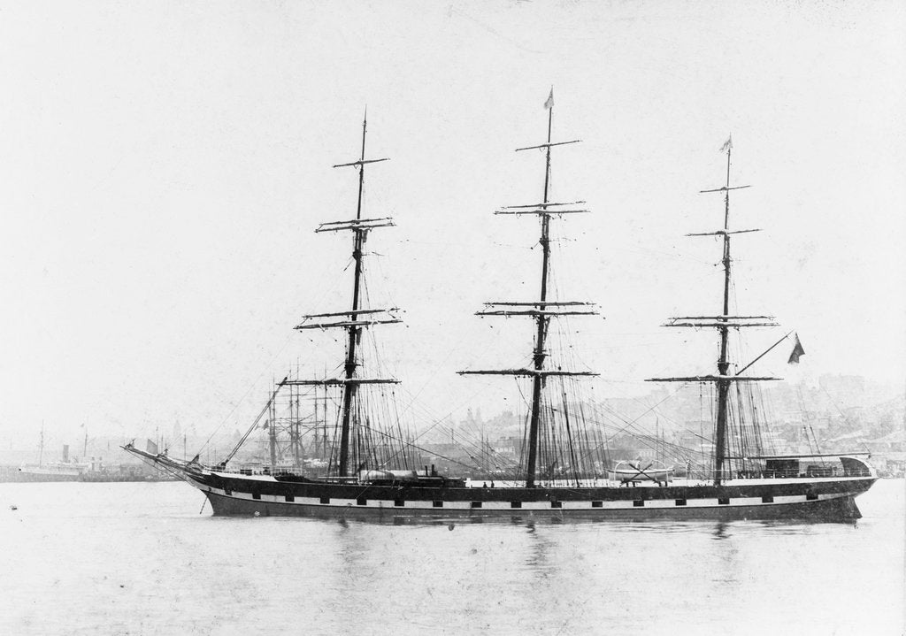 Detail of 'Garsdale' (Br, 1885) at anchor by unknown