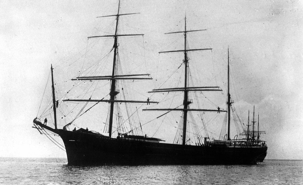 Detail of 'Guiana' (Br, 1882) at anchor by unknown