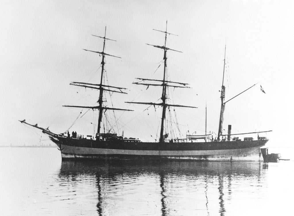 Detail of 'Mary Jose' (Da, 1876) coming up to anchorage by unknown