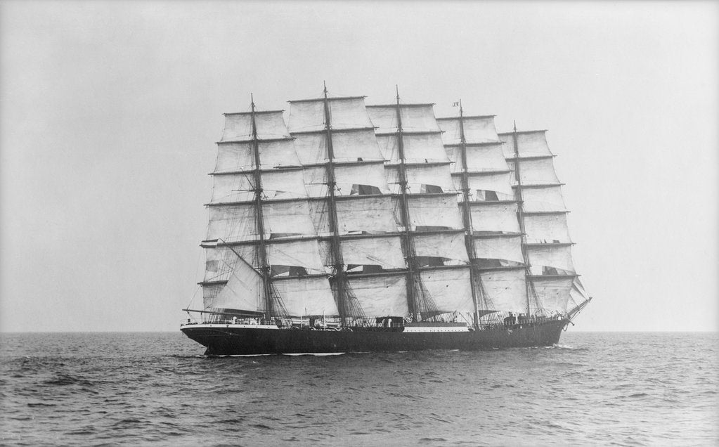 Detail of Photograph of 'Preussen' (1902) under sail by Alan Villiers