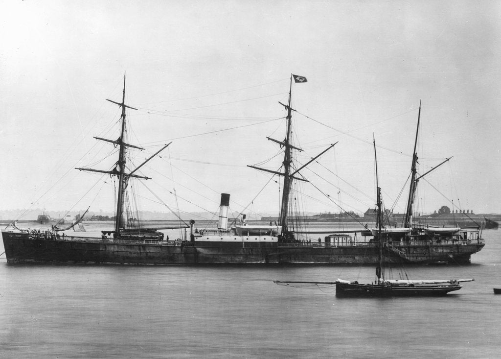 Detail of Cargo steamer SS 'Agamemnon' (1865) by unknown