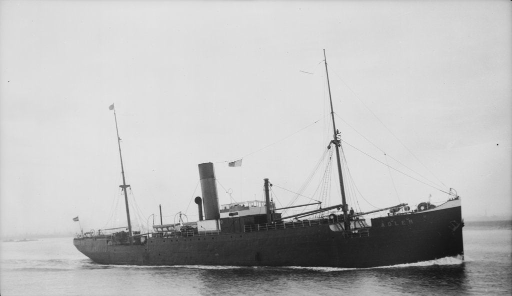 Detail of The Argo Line steamship 'Adler' (1900) by unknown