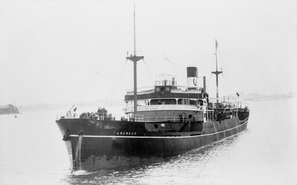 Detail of 'Arcwear' (Br, 1934) at anchor by unknown