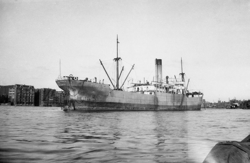 Detail of 'Petworth' (Br, 1918), at anchor by unknown