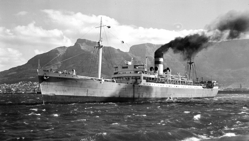 Detail of The 'Umgeni' (Br, 1938) in Cape Town harbour by unknown