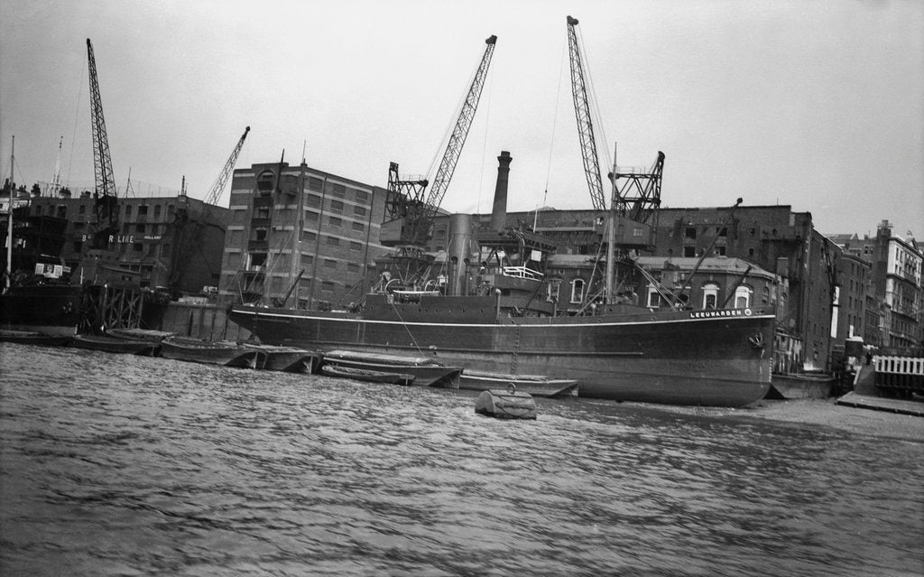 Detail of The 'Leeuwarden' (Br, 1929) at Brewers Quay, Upper Pool, River Thames by unknown