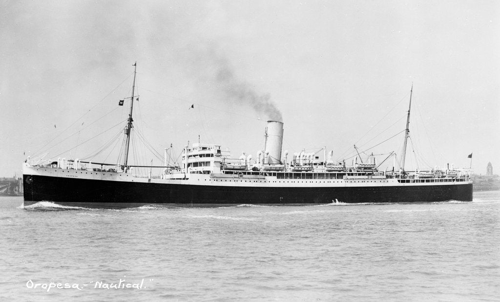 Oropesa' (Br, 1920) underway by unknown