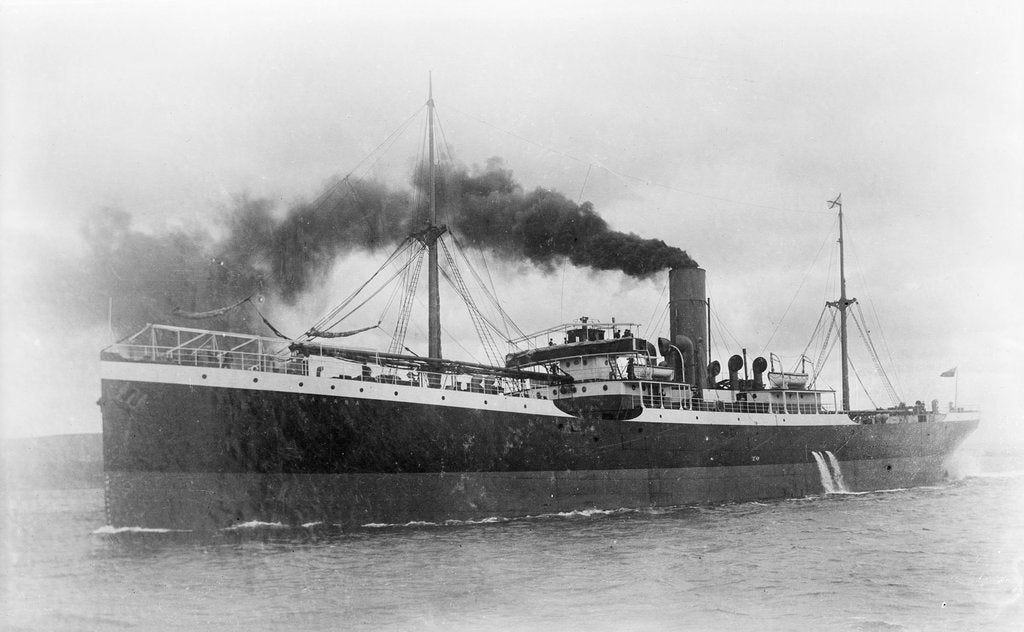 'Parana' (Br, 1904) cargo liner, Royal Mail Steam Packet Co., under way by unknown