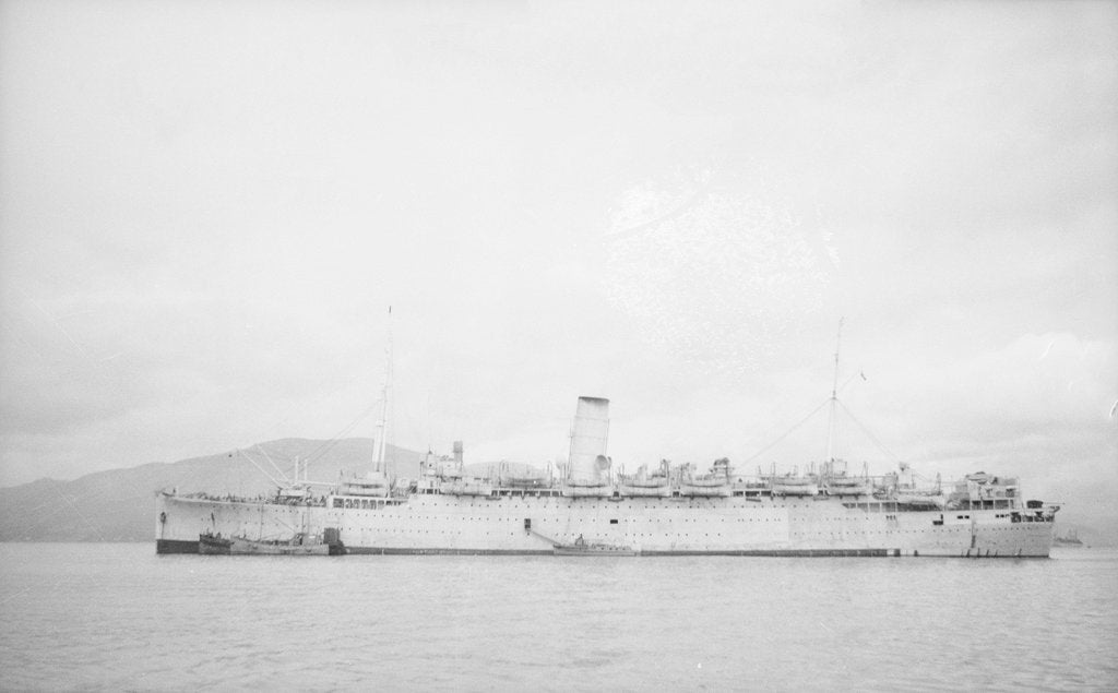Detail of Photograph of the 'Cameronia' (1920) at anchor in 1939-1945 by unknown