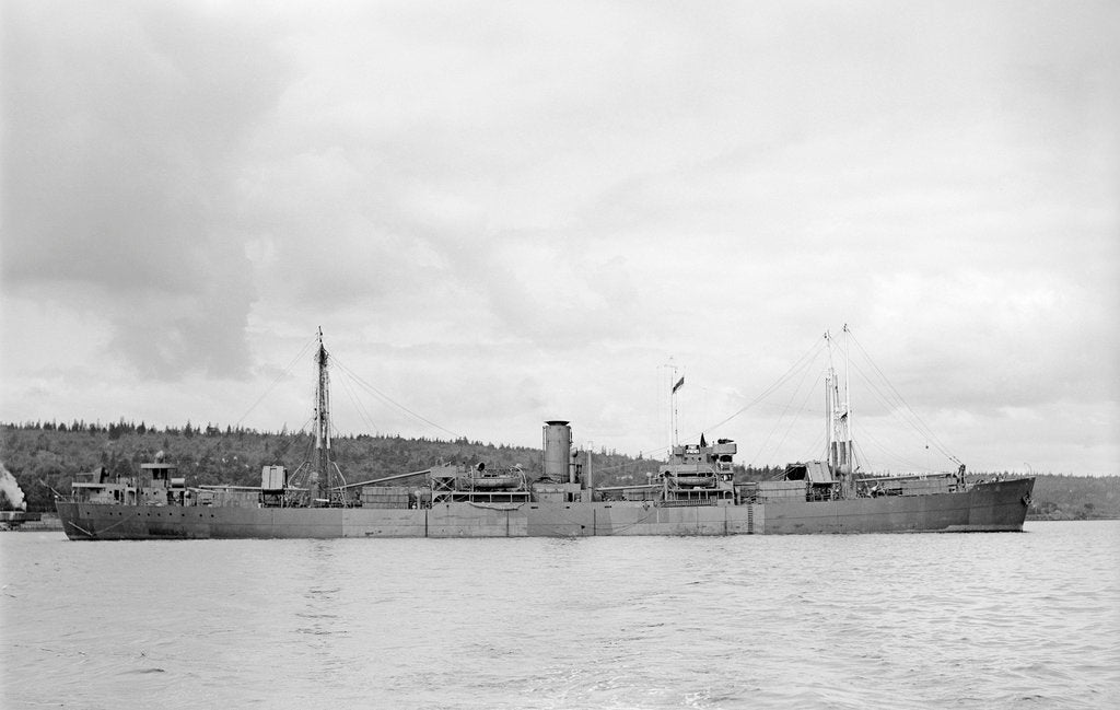 Detail of 'Fort St Regis' (Br, 1950) at anchor, Halifax NS by unknown