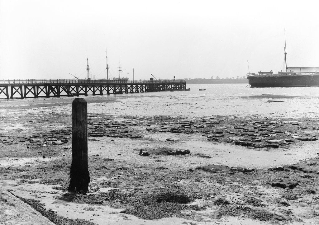 Detail of A view looking from the shore towards Shotley pier at low tide by Smiths Suitall Ltd.