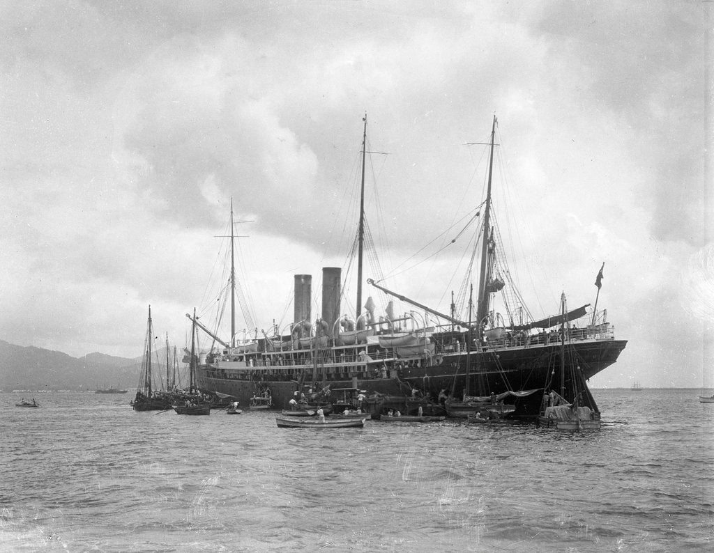 Detail of 'Magdalena' (Br, 1889), at anchor off Trinidad by unknown
