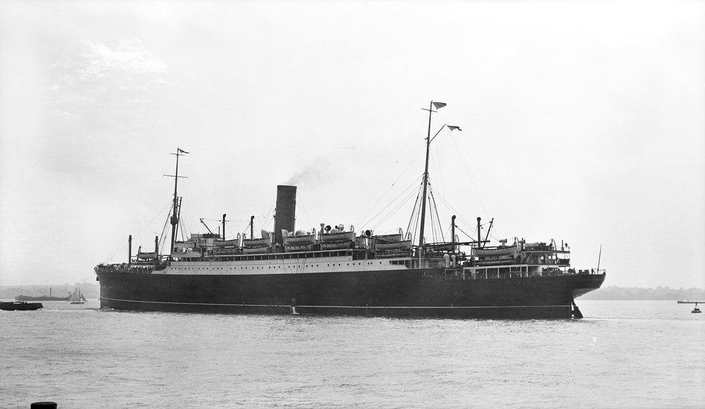 Detail of The 'Antonia' (Br, 1921) under way at Southampton by unknown