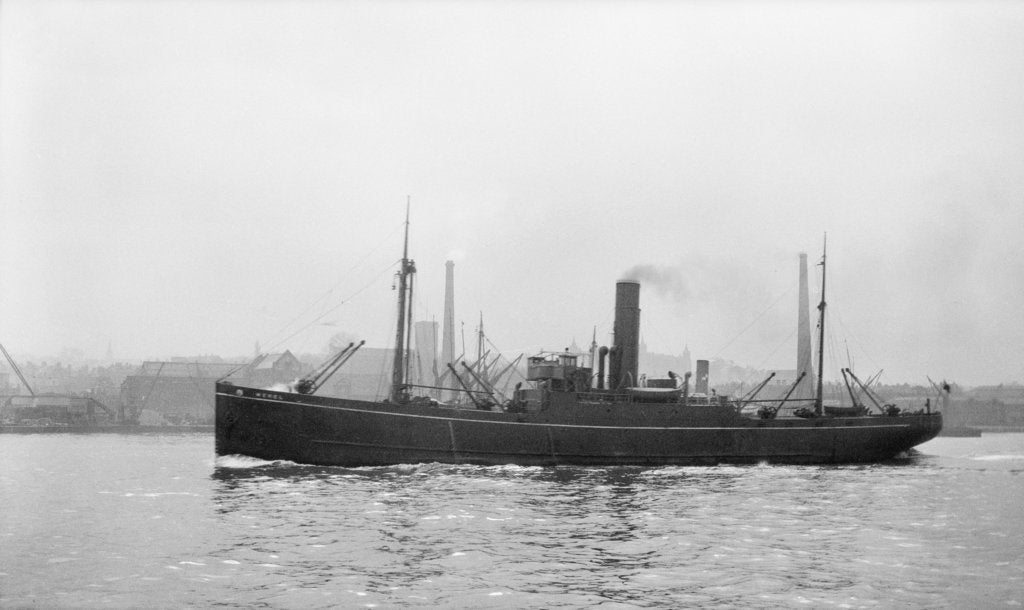 Detail of Photograph of the vessel 'Merel' (1925) under way on the River Thames passing Woolwich, 23rd March 1932 by unknown