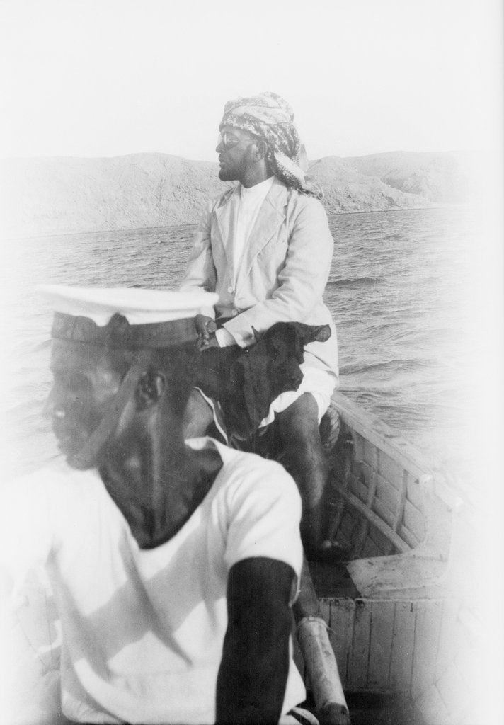 Detail of On board 'Triad' (1909) in the Gulf by unknown