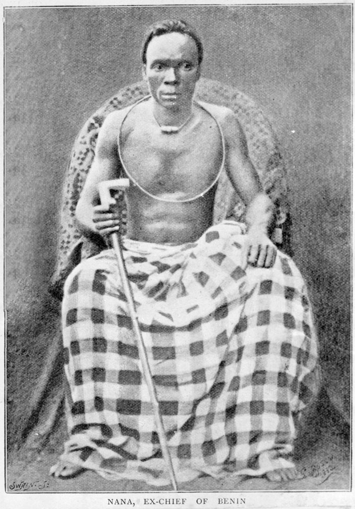 Detail of Photograph of Chief Nana Olomu by unknown