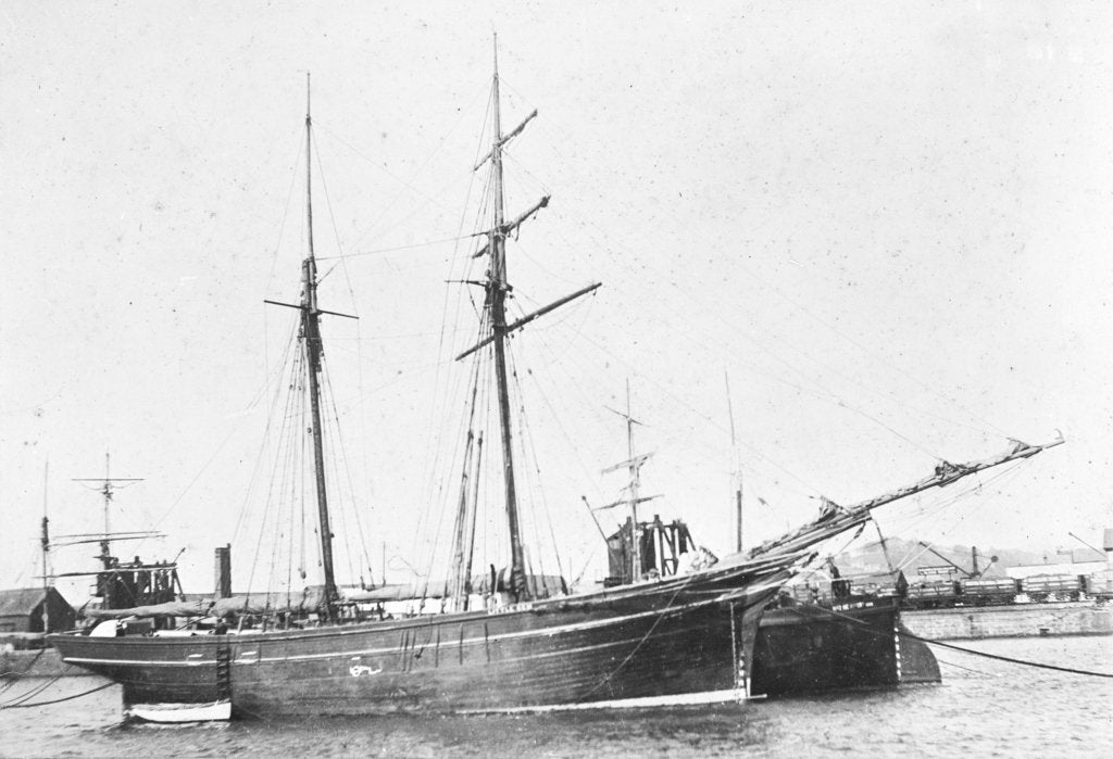 Detail of Photograph of the vessel 'Little Gem' (1893) by unknown