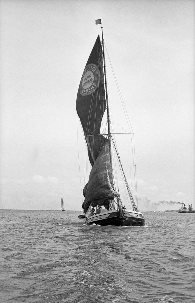 Detail of 'Youngarth' (Br, 1913) Under sail coming up to Southampton by unknown