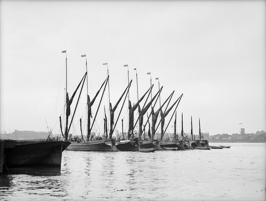 Detail of Topsail barges by unknown