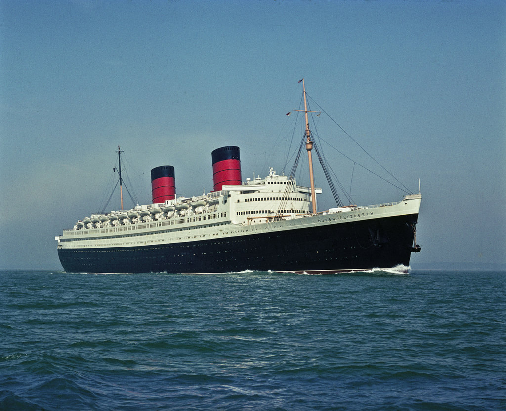 Detail of Cunard liner RMS 'Queen Elizabeth II' (1940) by unknown