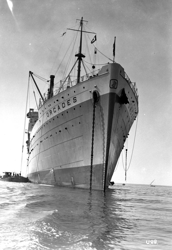 Detail of The 'Orcades' at anchor by Marine Photo Service