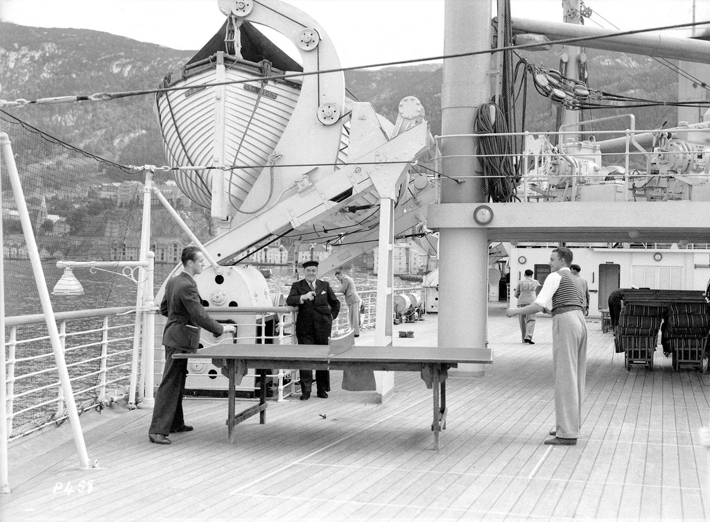 Detail of Table tennis aboard the 'Orion' by Marine Photo Service
