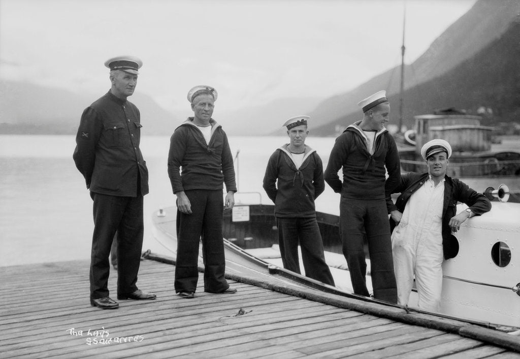 Detail of Crew of one of the 'Orontes' tenders by Marine Photo Service